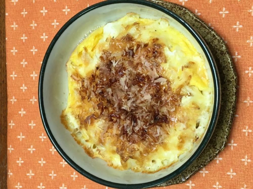 魚焼きグリルで簡単長芋のキッシュ風作り方