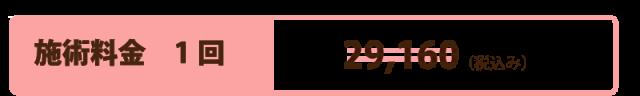 施術料金1回:29,160(税込)のところ